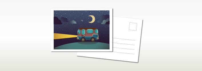 imprimir tarjeta postal en Granada