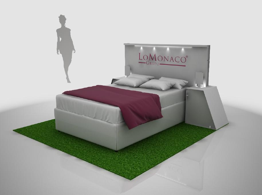 Stand LoMonaco, simula un dormitorio