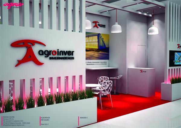 ejemplo de trabajo realizado en diseño de stand con Agroinver