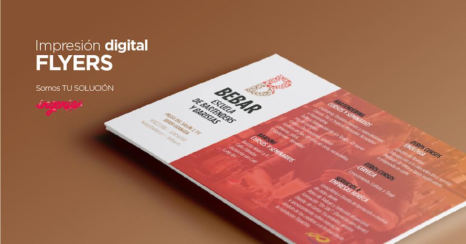 servicio para imprimir flyers en Granada