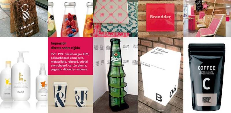 imprimir sobre materiales rígidos en Granada y Madrid