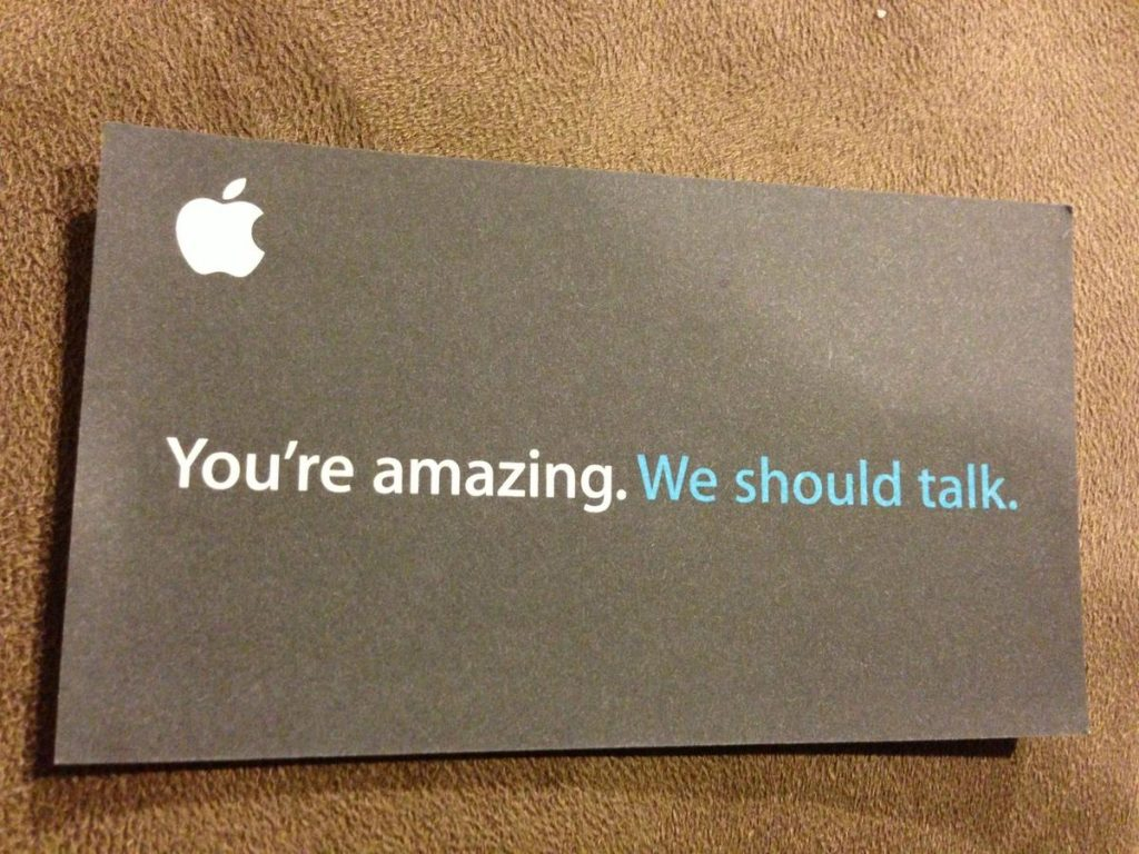 tarjetas de visita mensaje claro
