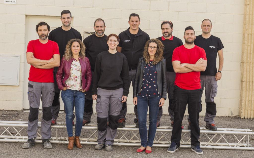 trabajadores de la empresa Ingenia Digital en Granada